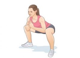 sumo squats : 50 ✨