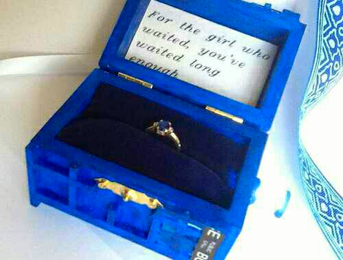 Maybe a cute little Tardis proposal from Dr. Who?