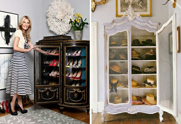 Curio cabinets are perfect for storing those millions of pairs of shoes you own! They'll be neat and tidy and you'll be able to choose what to wear easily.