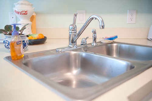 10.Shine up your stainless sink using Barkeeper's Friend.