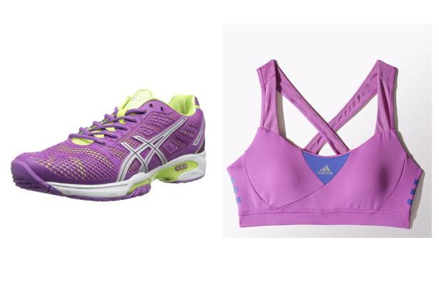 Asics Women's Gel-Solution Speed 2 Tennis Shoes, $130 at Amazon  Adidas Infinite Series Supernova Bra, $40 at Adidas