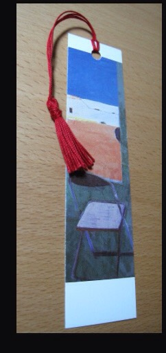 Make a book mark. Cut the front of the card into strips about an inch and a half (4cm) wide and 6inches (15cm) long. Punch a hole at the top of the strip and add a tassel.