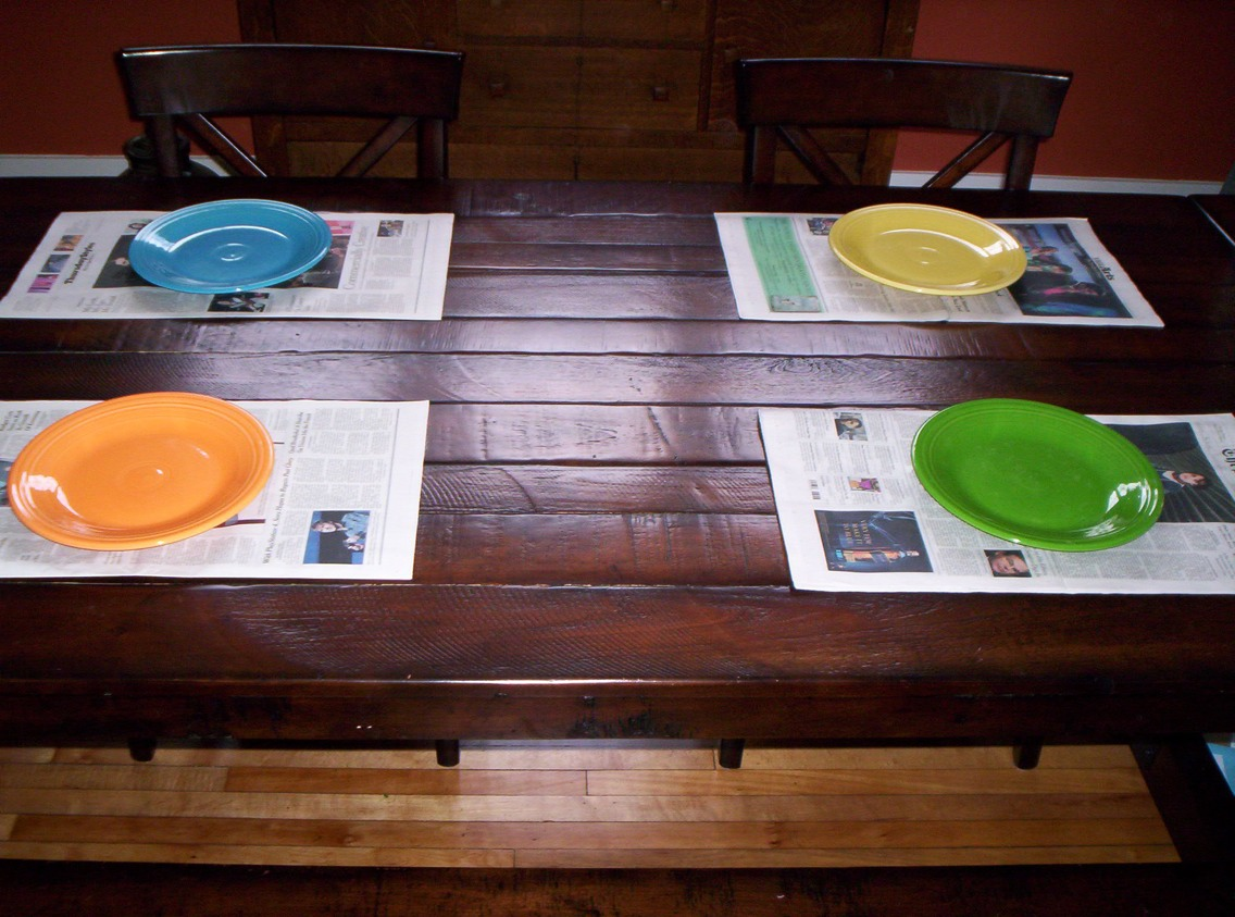 Use as table mats