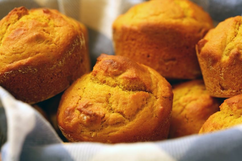 For pumpkin muffins you will need: •1 3/4 cup of all-purpose flour •1/3 cup of sugar  •2 teaspoons baking powder •1 beaten egg •3/4 cup milk •1/4 cooking oil •1 teaspoon of ground cinnamon  •1/2 teaspoon of ground nutmeg •1/8 teaspoon of ground cloves •1/2 cup canned pumpkin •1/4 cup chopped nuts