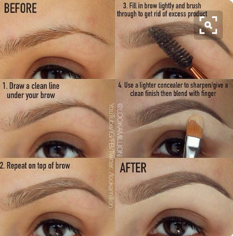 easy steps to having your brows fleek asf ❤💄