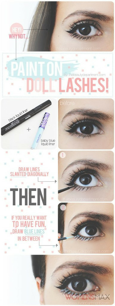 how to: doll eyes/lashes