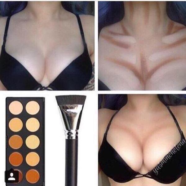 Make boobs look bigger in bikini