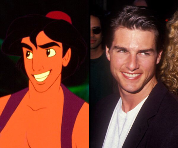 And Aladdin is based on Tom Cruise.