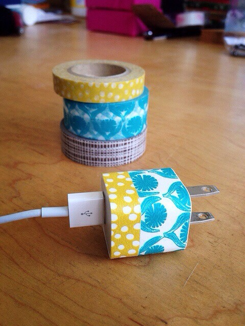 Put washi tape on your charger to make it awesome