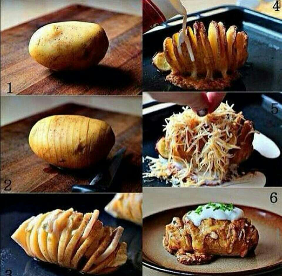 you need a potato, jam , cheese, put it in an oven in a low temperature, wait till it's done