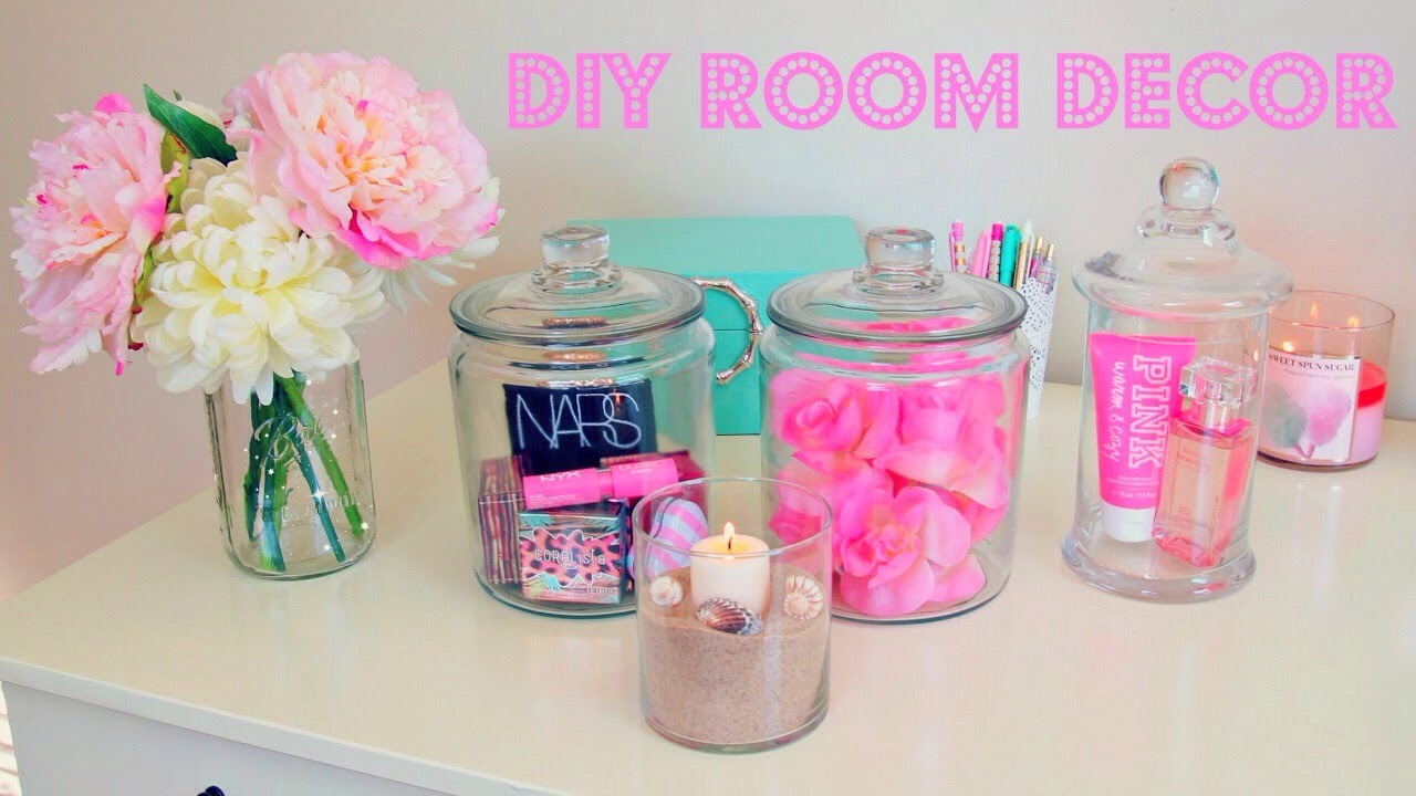 Use jars/ mason jars to store items such as makeup, hair accessories etc.  you can also use the jars for for decorations like flowers