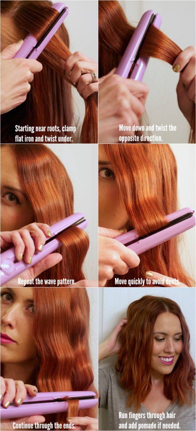 Use a flat iron to make some waves.
