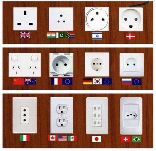 I just hate it when I'm packing my suitcase and never knowing what type of plug to bring with me! I found this picture of all these different plugs that you need for different countries, hope this helps you a lot 🇯🇵🇰🇷🇬🇧🇨🇳🇩🇪🇺🇸🇫🇷🇪🇸🇮🇹