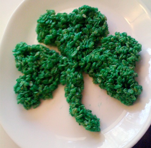 Just make rice Krispy treats shape them and die them green or ice the top with green:)