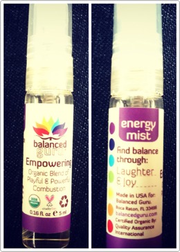 Balanced Guru Empowering Energy Mist! This stuff not only smells amazing but, helps to improve your mood and is the perfect size to put in your purse (or even your pocket!) so you can have it whenever you need it! Much better and more natural alternative to any caffeine that you can get. 😊