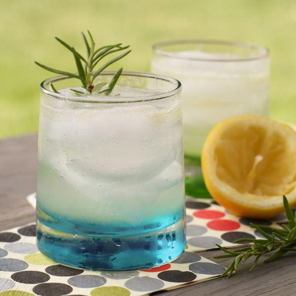 A refreshing gin spritzer with a hint of fall from the rosemary simple syrup.