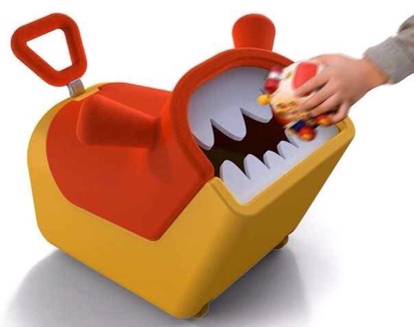 """7. A monster toybox that """"eats"""" toys."""