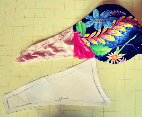 8.  Cut out two side bands from your fabric.