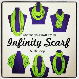Do way more with your infinity scarf than just wrapping it around your neck!