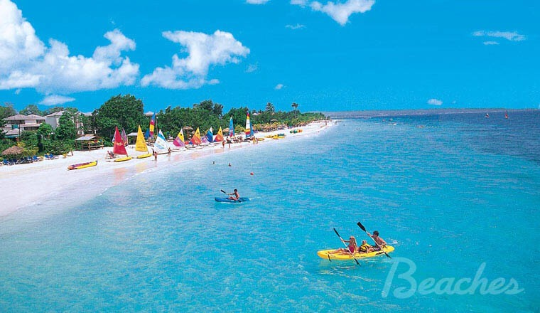 JAMAICA!! This place is PERFECT for the greatest family activities! If you go to Beaches Resorts, you'll see 3 places in Jamaica where the beautiful resort is on the beach! There's Negril, a family place, Turks and Caicos, and Ocho Rios.