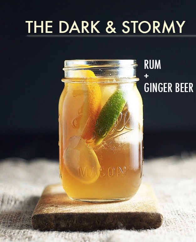 Top one or two shots of rum with ginger beer (Reed's is great) and garnish with a lime wedge.