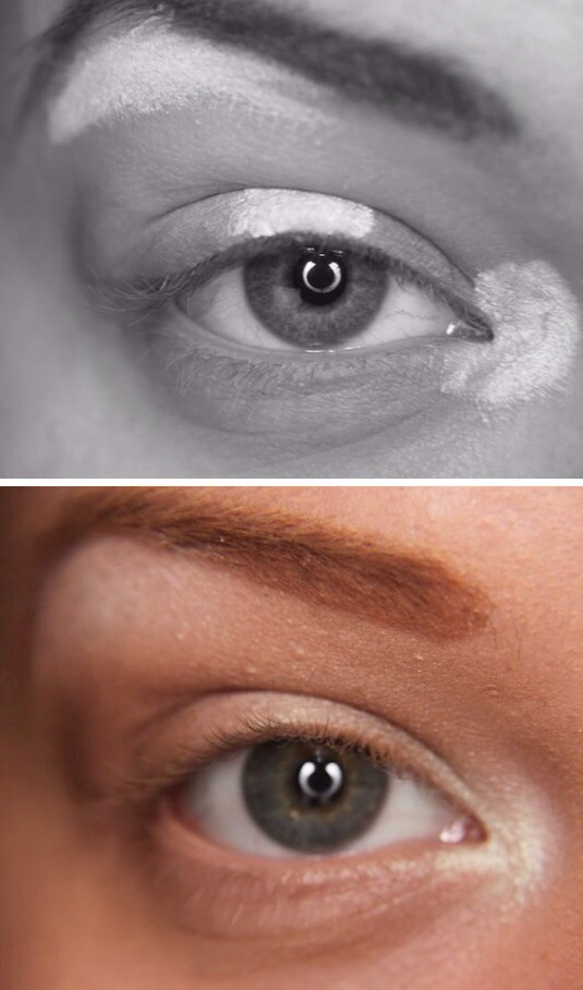 Apply your lightest colour first, them move on to darker shades.