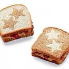 Cut the stars or other shapes out of single pieces of bread before making sandwiches!