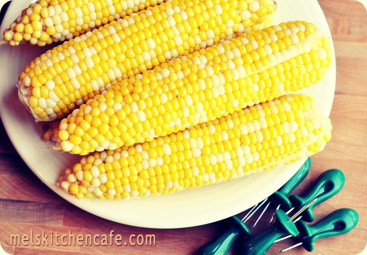 After you've put your corn in the water, Just add about half cup of milk, (whatever you drink, whole milk works best), then add some sugar (amount to desired taste). Then just let it boil until done. Very easy and super delish!!