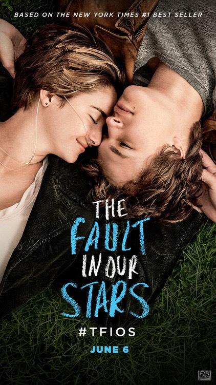 The fault in our stars  We saw the film and cried along side the sad romance of the main characters. The book has me on the edge of my seat unable to stop reading as I was that drawn in. If you thought the film was emotional give the book a read and follow them on their journey through life