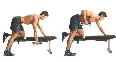 3: Bent-Over One Arm Dumbbell Rows