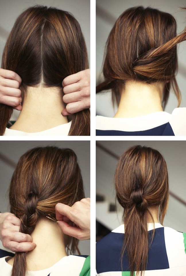 Great way to quickly get your hair out of your face using just one bobby pin