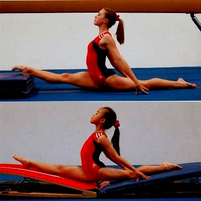 Stretch every day, do the normal stretches you would do during a cheering practice and then do other ones that you wouldn't normally do