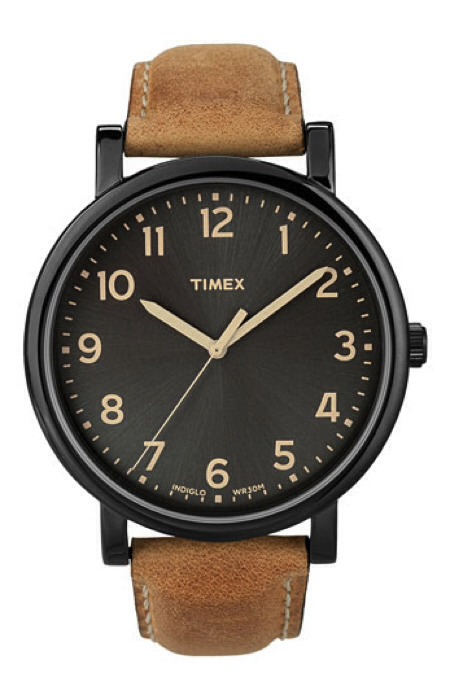 Tell him it's time. Men love watches like women adore shoes. They can't get enough of them! Now which guy wouldn't love a stylish and classic—a great everyday watch.