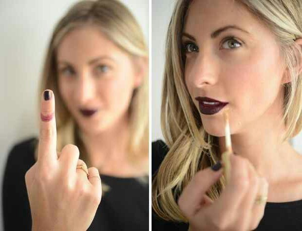 To avoid getting lipstick on your teeth, stick your finger in your mouth and pull it of.  Excess of lipstick would stick in your finger and not in you're teeths.