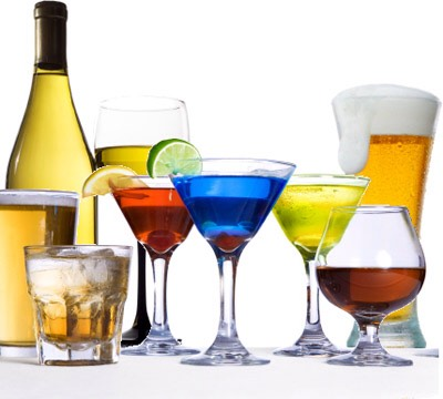 This may come as a surprise to some, but your body can break down alcohol for energy, and it has almost as many calories per gram as fats. ANY TYPE of alcohol (even plain vodka). What's worse, is when you drink sugary mixers with it you're adding more calories to the problem.
