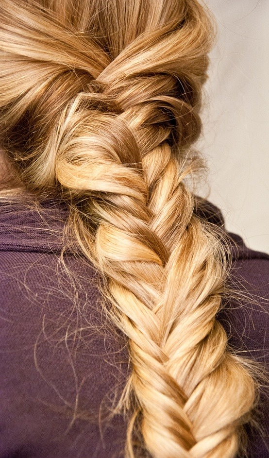"To get your braid to last all day, try styling hair that's ""dirty with product."" This will make the style stick longer."