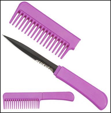Knife comb   For self protect