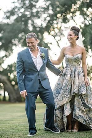 We were so excited to seefloral print wedding dresses!!!