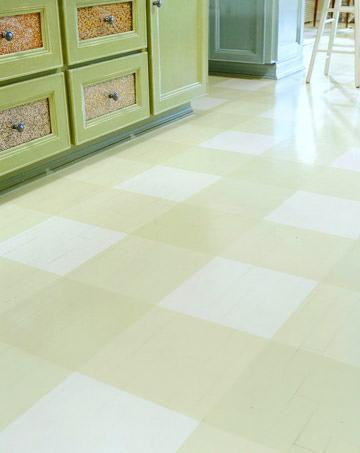 Create this plaid painted floor from BHG.