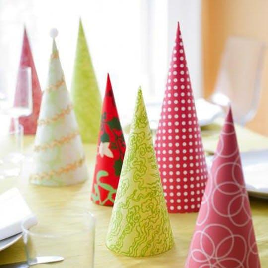 Get crafty with paper—try making modern paper cone trees like these fromMidwestLiving.