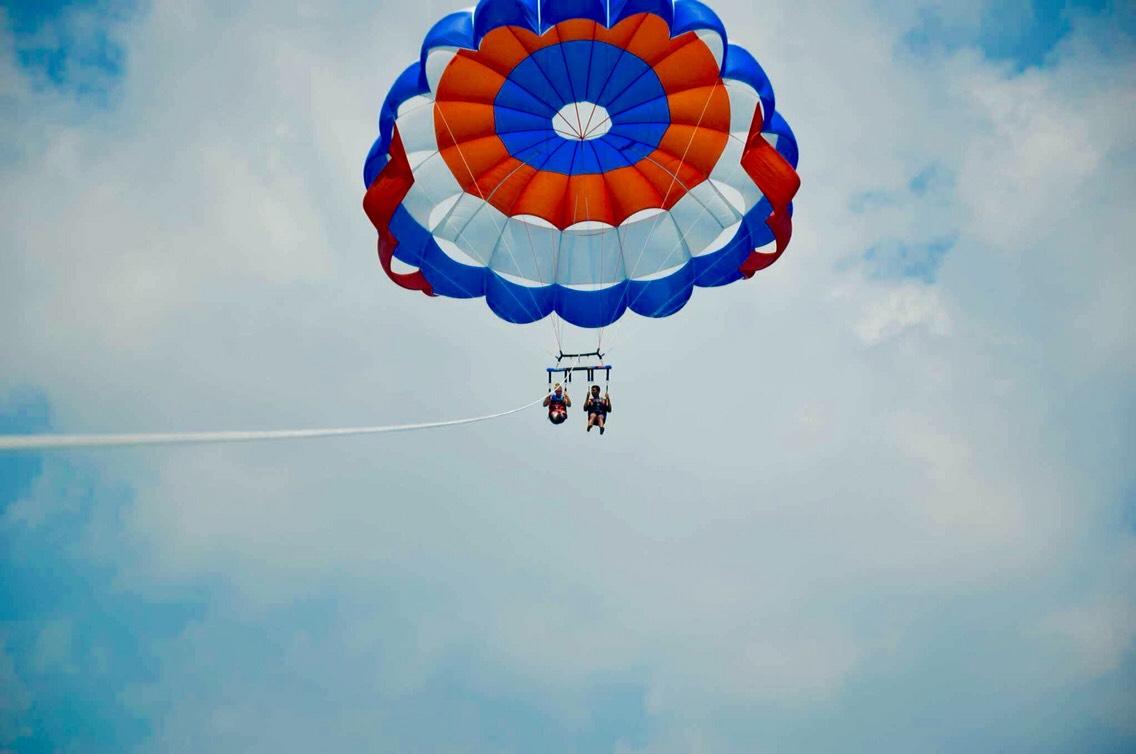 Go crazy ! Do something new. Like parasailing Over the ocean