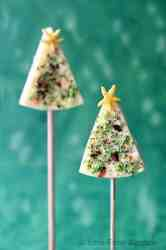 Christmas trees cheese pops