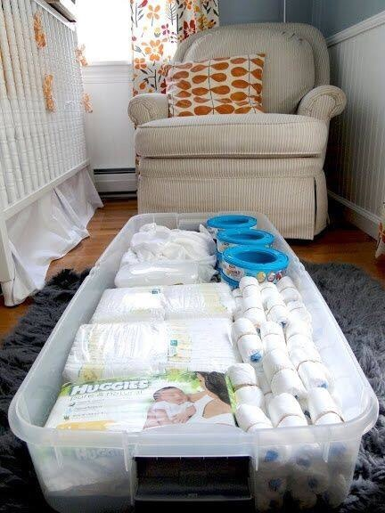 Sometimes less is more.. keep your baby's nursery room looking organized and the diapers and stuff out of sight!