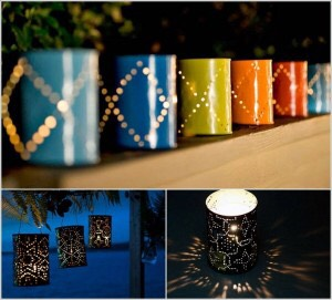 Line your walkway or garden with these cute DIY lights.