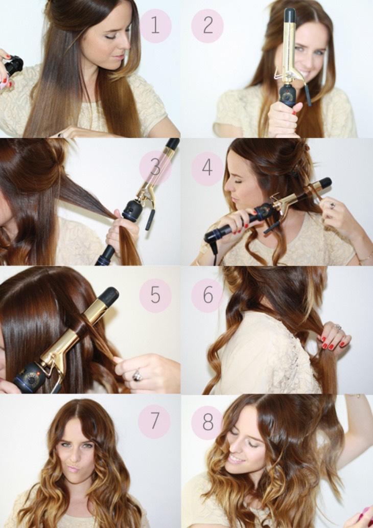 прически на длинные волосы с помощью щипцов