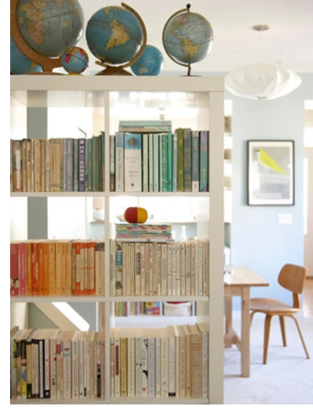 Add a book shelf paint the same color as your walls.  Voila!  Instant space divider and storage to boot!  Need it longer add two. Thanks for looking. Please don't forget to like and follow. Click my profile pic to see all my tips.