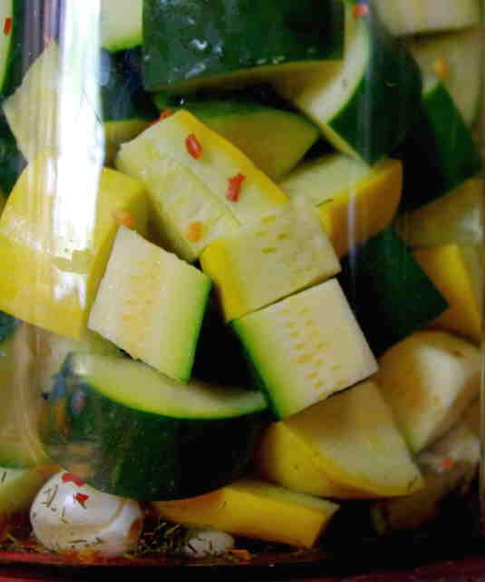 Brine Fermented Vegetables  Channel everything great about old-timey DIY and make these homemade brine-fermented pickled vegetables. Laura Ingalls Wilder's got nothin' on you.  Get the recipe from Simple Bites.