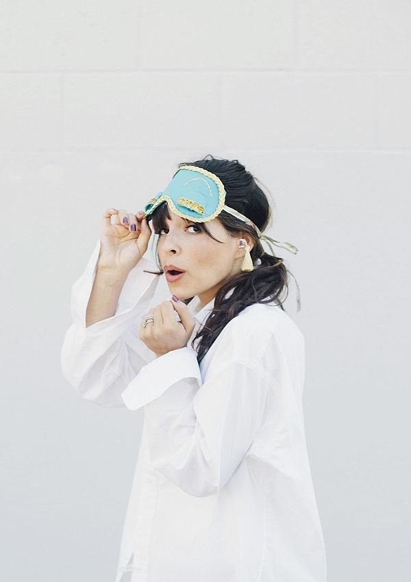 Costume: Holly Golightly from Breakfast at Tiffany's  Sleeping Mask Sleep Mask ($1)