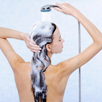 When washing your hair, try using a shampoo with Moroccan, Argan, or Tea Tree oil. These oils are amazing for hair growth and help strengthen your hair. Massage your roots for a couple minutes when shampooing to circulate blood flow and promote growth.