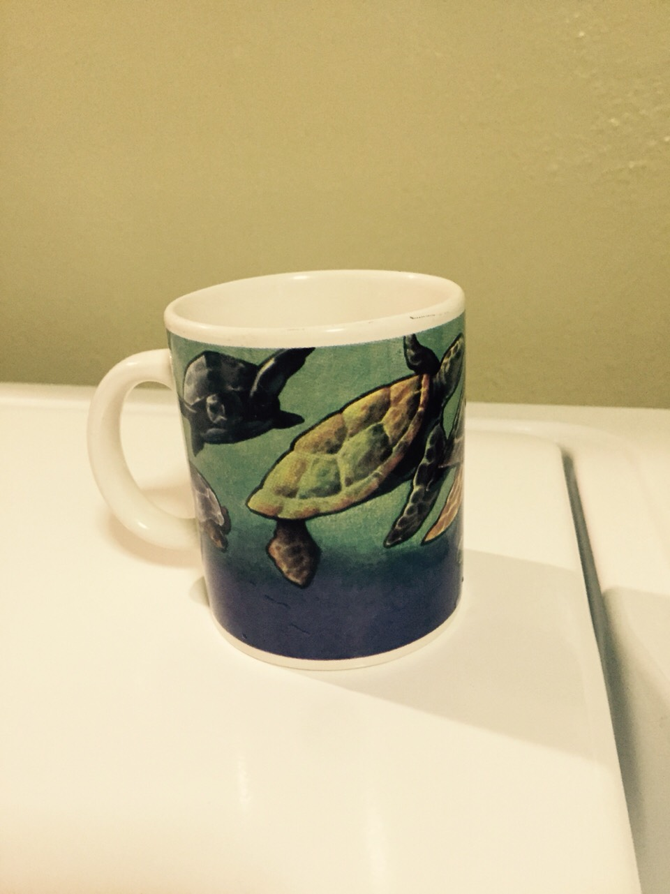 A mug. Not a plastic cup. You need a mug.